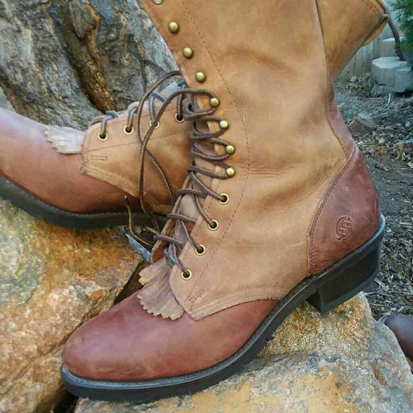 1c6d74888d4 Men's Double H Packer Lacer Cowboy Boots LEATHER
